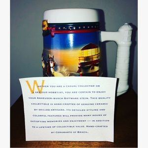 """Budweiser """"Guiding The Way Home""""2002 Holiday Stein"""
